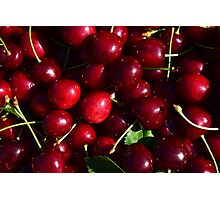 Cherries background Photographic Print