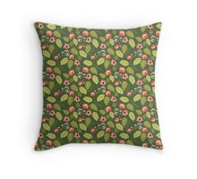 Lush Garden Floral Pattern Throw Pillow