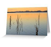 Lake Wivenhoe in Queensland during the day Greeting Card