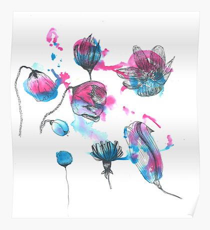 Flower Stains Poster