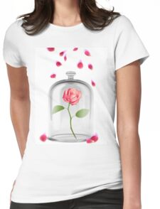 Rose in glass jar Womens Fitted T-Shirt