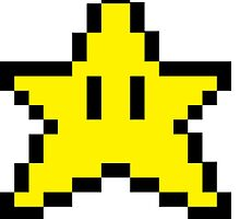 Mario Brothers Star by callmeJkay