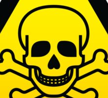 Toxic Hazard Sign Parody - Beware of Pirates T Shirt  Sticker