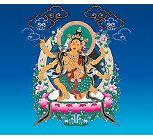 Yoga Mandala Henna Ornate Ohm Tan Photographic Print