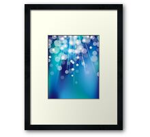 Shiny glowing turquoise background Framed Print