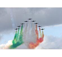Italian aircraft display team Photographic Print