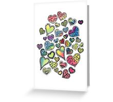 Hippie Hearts Greeting Card