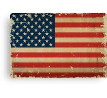 US Flage VINTAGE Canvas Print