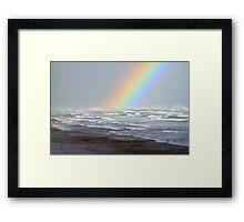 Rough Seas and Rainbows Framed Print