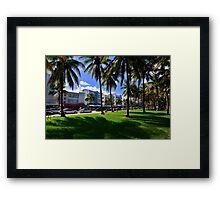 Miami Beach Ocean Drive Framed Print