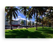 Miami Beach Ocean Drive Canvas Print