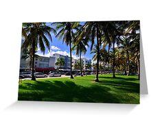 Miami Beach Ocean Drive Greeting Card