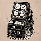 Rocket Cats - Vintage Style by RonanLynam