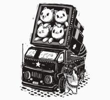 Rocket Cats - Vintage Style T-Shirt
