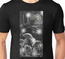 Bloom and Gloom Digital Grey Scale Unisex T-Shirt