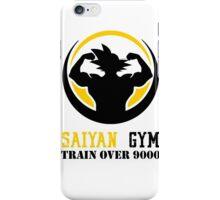 Saiyan Gym - Train Over 9000 iPhone Case/Skin