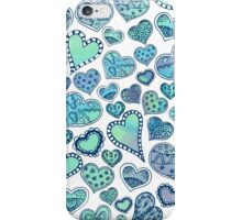 Hippie hearts - Blue-Green iPhone Case/Skin