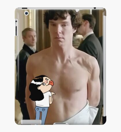 Sherlock - fangirl licking Benedict Cumberbatch iPad Case/Skin