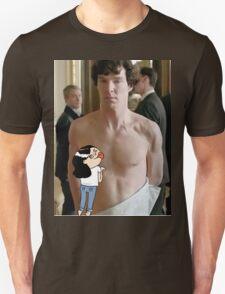 Sherlock - fangirl licking Benedict Cumberbatch T-Shirt