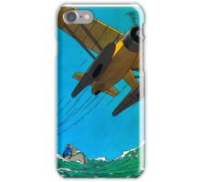 Tintin Airplane Print iPhone Case/Skin