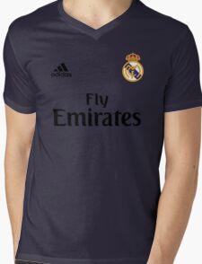 Real Madrid FC Mens V-Neck T-Shirt