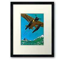 Tintin Airplane Print Framed Print