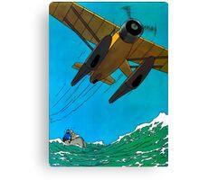 Tintin Airplane Print Canvas Print