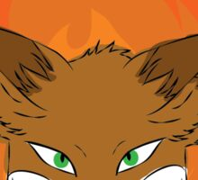 The Green-eyed Foxy Sticker