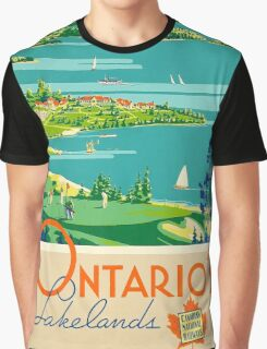 Ontario Vintage Travel Poster Graphic T-Shirt