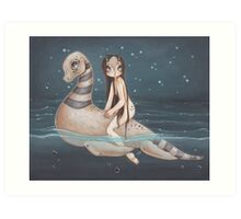 Loch and Ness Art Print