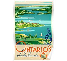 Ontario Vintage Travel Poster Poster