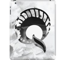 Letter Q Alphabet Abstract Watercolour Textured iPad Case/Skin