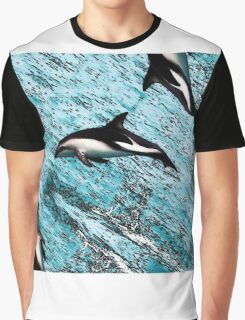 Dolphins jumping out of the water Graphic T-Shirt