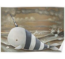 Beached Narwhal Poster