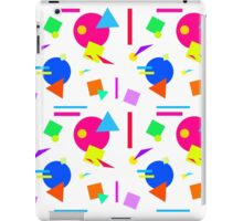 Coloured Retro (Small) Shapes 1980's - White - 80s 80's 1980s 1980's 1980 Classic Throw Back iPad Case/Skin
