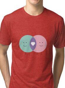 Venn diagram LOVE Tri-blend T-Shirt