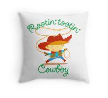 Rootin' Tootin' Cowboy Throw Pillow