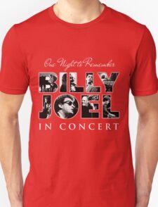 BILLY JOEL ONE NIGHT REMEMBER TOUR Unisex T-Shirt