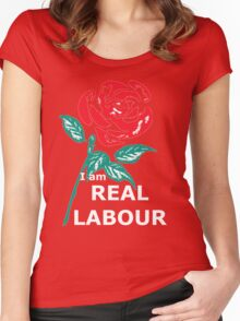 """""""I am Real Labour"""" Women's Fitted Scoop T-Shirt"""