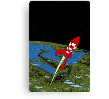 Tintin Rocket Canvas Print