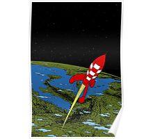 Tintin Rocket Poster
