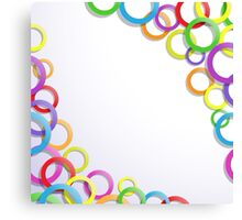 Colourful rings Canvas Print