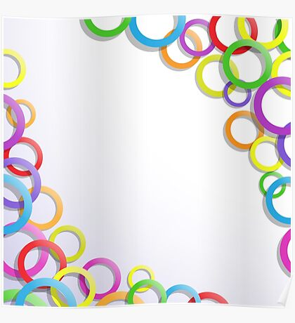 Colourful rings Poster