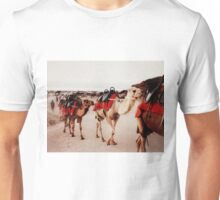 camels on the sand Unisex T-Shirt