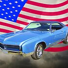 1967 Buick Riviera With United States Flag by KWJphotoart