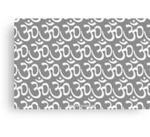 Yoga Ohm Symbol GREY Canvas Print