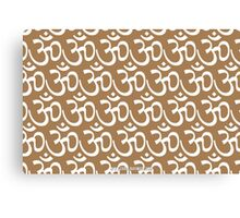Yoga Ohm Symbol TAN Canvas Print