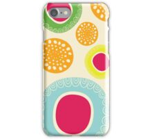 Fun Happy Circle Flower iPhone Case/Skin