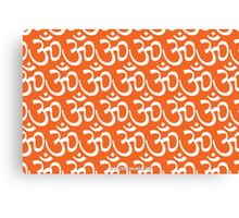 Yoga Ohm Symbol ORANGE Canvas Print