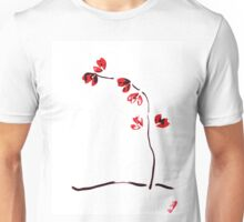 Red flower - ikebana minimalist design Unisex T-Shirt